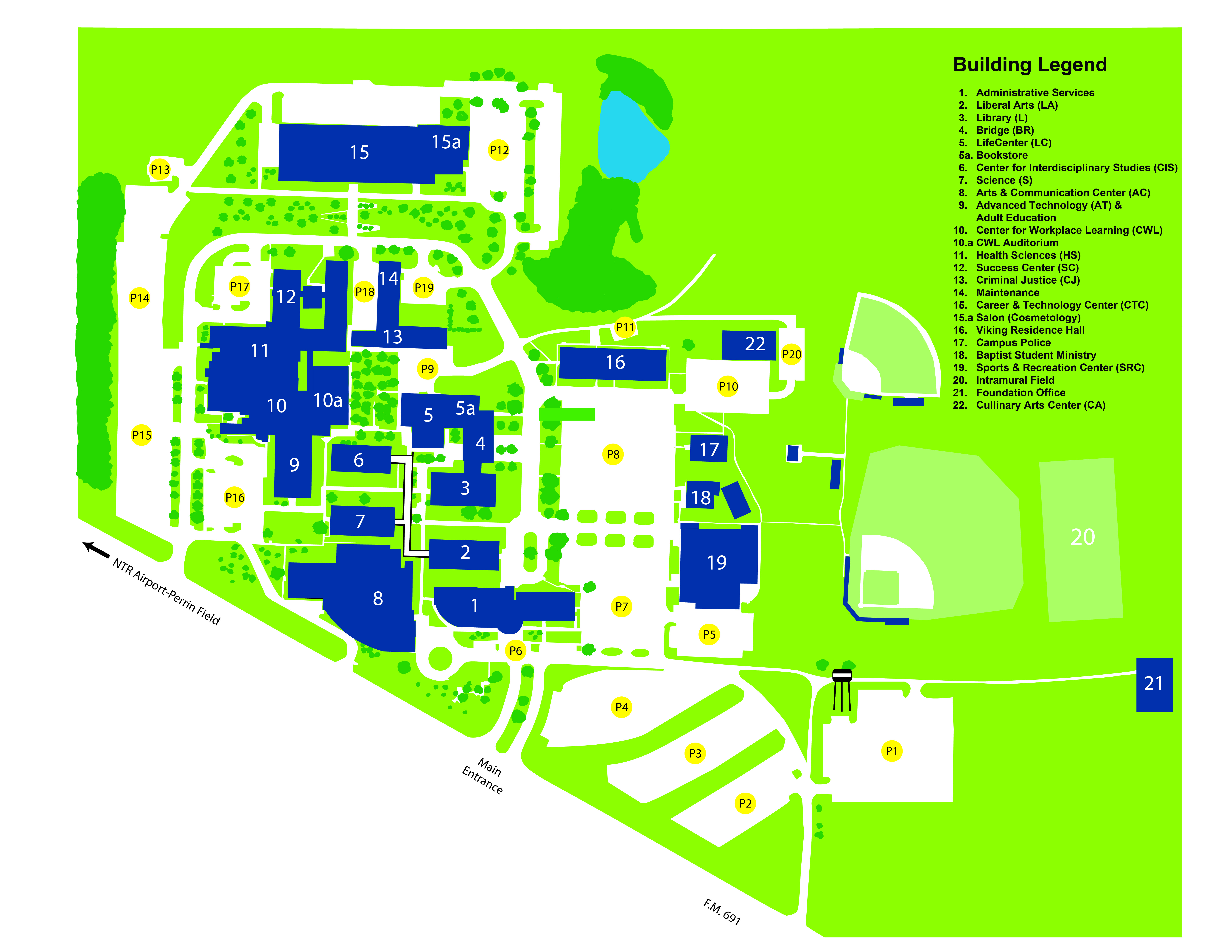 on scf denton campus map