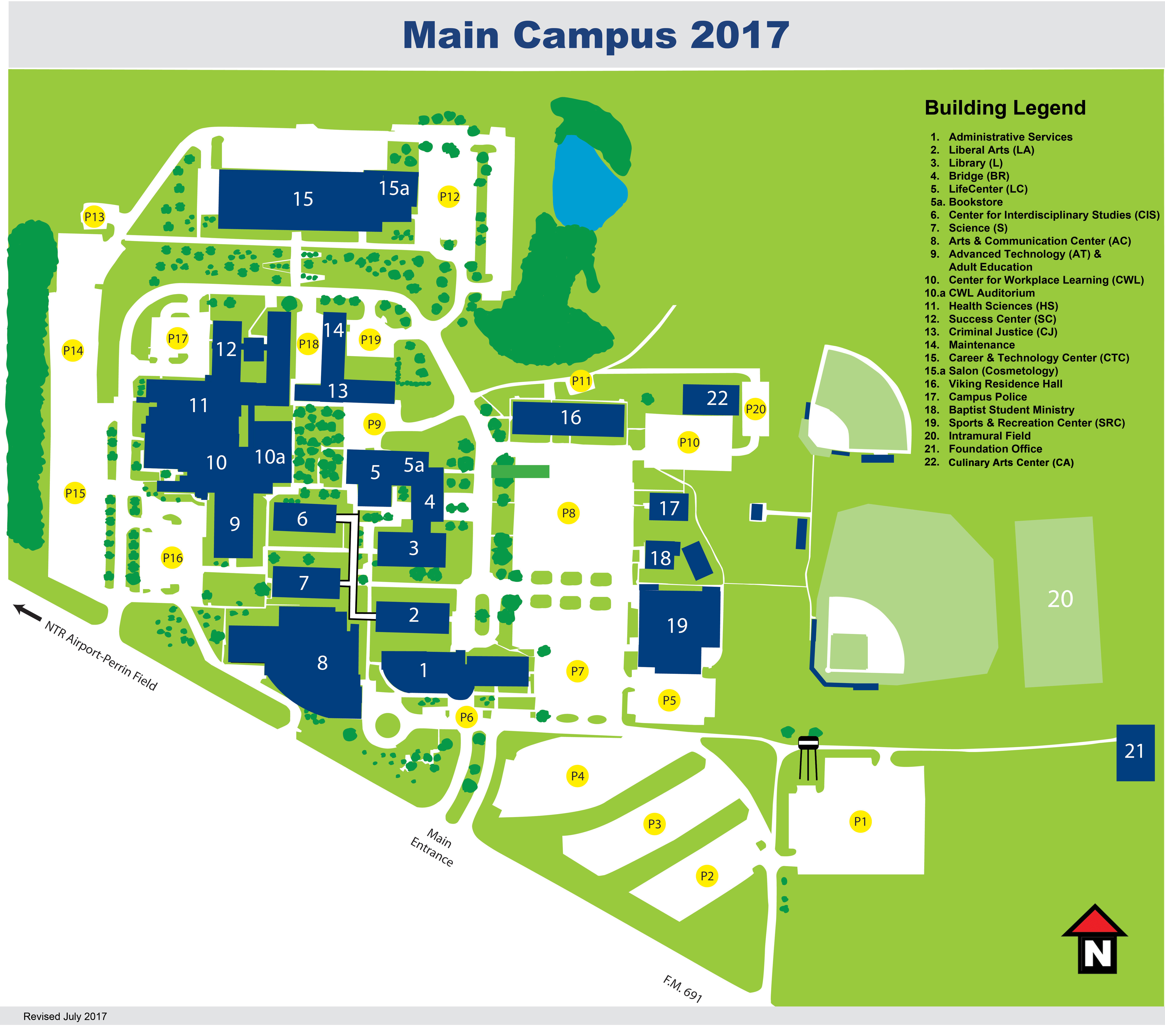 South Texas College Campus Map.Main Campus